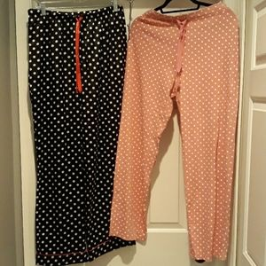 2 Pack Bundle Polka Dot Sleep PJ Pants Size Medium